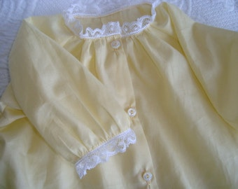 Yellow Voile Heirloom Daygown with French lace