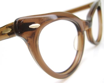 Vintage 50s B&L Cat eye Glasses  Bausch Lomb Mid Century Eyeglasses Sunglasses
