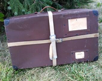 Vintage Cardboard Suitcase  Poor Mans Suitcase