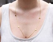 Long Gold Triangle Necklace