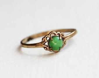 Tiny Green Stone Ring