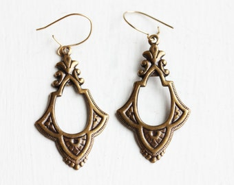 Brass Drop Earrings