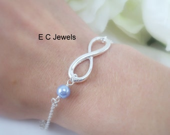 Pearl Infinity Bracelet - Pick your color