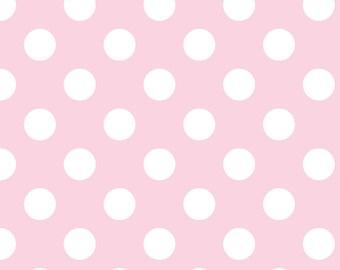 Flannel, Medium, Dots, Baby, Pink, Riley, Blake, Flannel, Crib, Swaddle, Blanket, Fabric, 1 yard, LAST YARD
