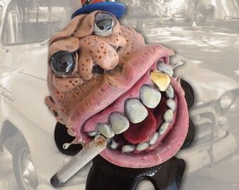 Your Big Fat Mouth, mixed-media sculpture