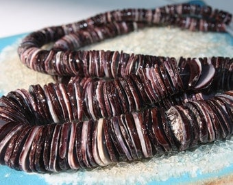 Organic Purple Spiney Oyster Shell Discs - 1/2 Strand