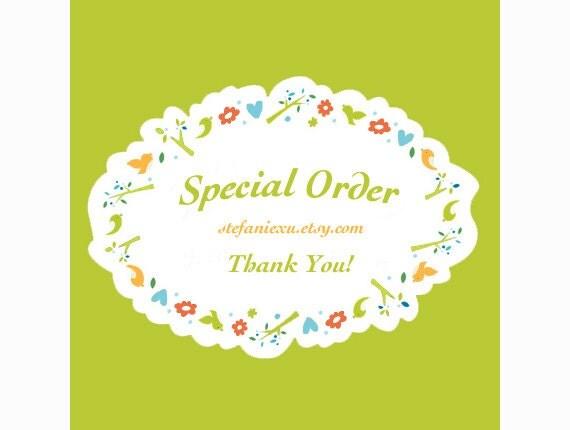 Special order for   ginasim