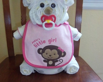 Daddy's Little Girl Diaper Bear