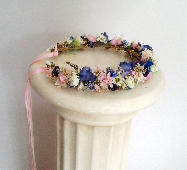 Custom Flower Girl Halos Set Of 2 Dried Flower Crown Bridal
