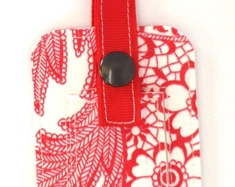 Oilcloth Luggage Tag