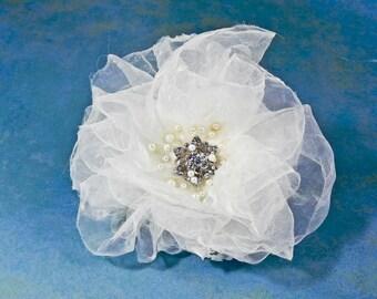 Wedding Flower Hair Accessory - Ivory Bridal Flower