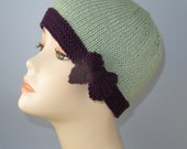 Instant Digital PDF Download - Tie Up Bow Beanie Circular Knitting pattern