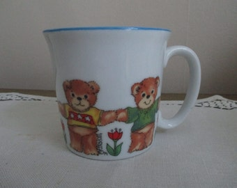 Childs Mug 80s Bear Lucy And Me ENESCO Childrens Cup Colorful