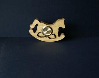 Wood Shelf Sitter Rocking Horse Clock Scroll Saw