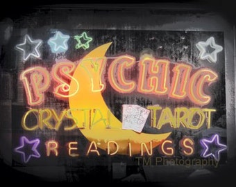 Psychic - Fine Art Photography - Fortune Teller - Palm Reader - Sign - Sign Art - Fortune Teller Sign - Tarot - Mystical - Psychic