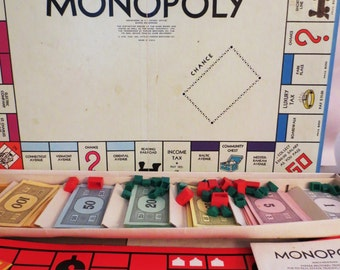 Monopoly Board Game Vintage 1974