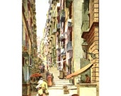 Naples Postcard: Pallonetto S. Lucia Early 1900's