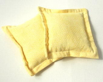 heat therapy rice bags set of 2 yellow cold pack