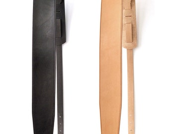 Straight Tapered Leather Guitar Strap