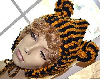 Crochet Hooded Pixie Hat & Scarf PDF
