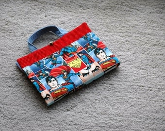 Crayon Artist Tote for kids featuring Superman