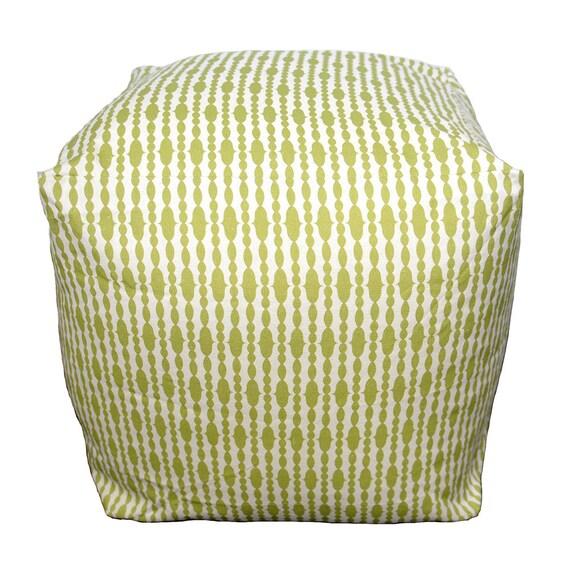 organic square pouf floor pillow raindrops split pea