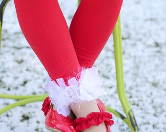 Red and White Girls Stockings Tights