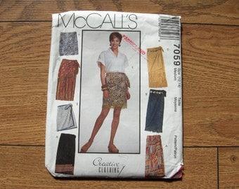 1994 McCalls pattern 7059 misses wrap skirts uncut sz 12,14