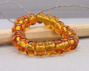 25 % off - 20 Spacer - Handmade Lampwork Beads - S 3