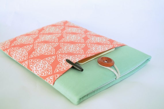 "14"", 15.6"" Laptop Case,15"" MacBook Pro Sleeve MBP with Retina Display Case Padded with Pocket - Coral Damask"