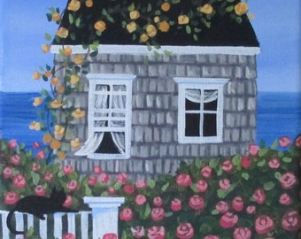 Stop and Smell the Roses Folk Art Print