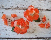 Flower Headpiece, Hair Accessories, Hair Clip, Fall, Wedding Flowers, Floral Hair Accessory,Orange Flower, Flower Clips - CLEMENTINE