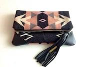 Vivi Handmade Clutch laptop/MacBook Pro case with leather corners Yoshimi
