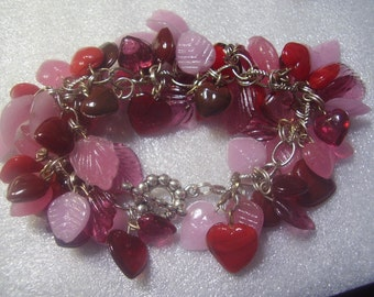 Hearts and  Leaves Bracelet