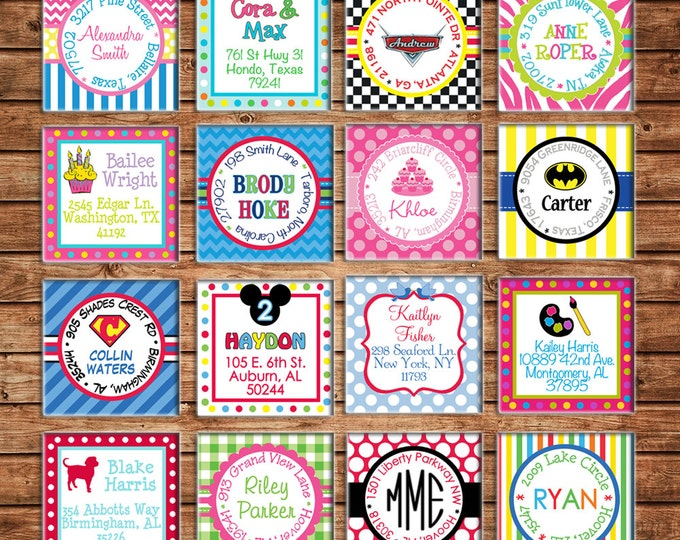 30 Boy or Girl Address Labels - Made to match ANY of my invitations
