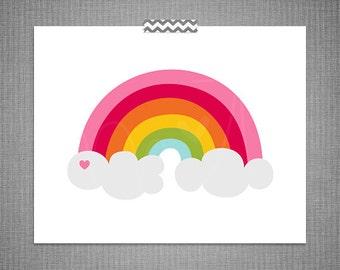 Rainbow DIY Printable Digital Wall Art 4x6 5x7 8x10 11x14