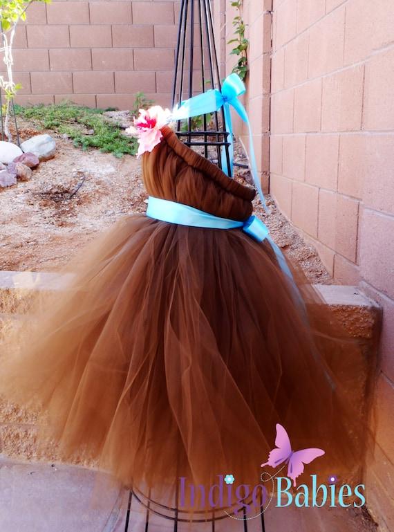 Items similar to Tutu Dress, Flower Girl Dress, Chocolate Brown ...