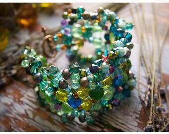 intricate beadwork bracelet - the madame zora
