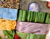 7 Soap Bars / Bath and Beauty Personalized Gift Set Under 50 / Cold Process Vegan Soap Sampler