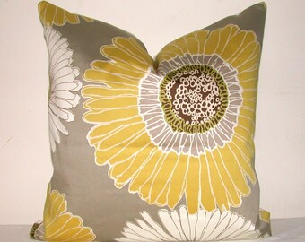 Pillow Cover, Decorative Pillow, Throw Pillow, Toss Pillow, Sofa Pillow, Yellow Daisy, White Daisy, Home Furnishing, Home Decor, Pillow Case