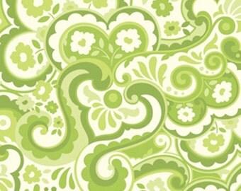 SALE Home Decor Free Spirit -Heather Bailey Garden District Sateen  Cakewalk - SAHB001 Green BTY