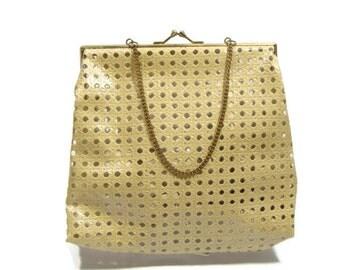 Vintage Faux Straw Woven Pattern Pvc Handbag Pvc Handbags Straw Handbags Vegan Purses Beige Handbags Non Leather Bags Tan Handbags