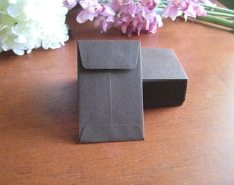 "100 MINI ENVELOPES - CHOCOLATE - Brown 3.75"" x 2.25"""