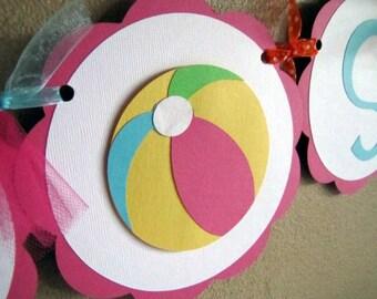 Beach Ball Party Banner, SPLISH SPLASH banner, Beach Ball Birthday, Beach Ball Party, Swim Party, Pool Party, Baby Shower Banner, Beach