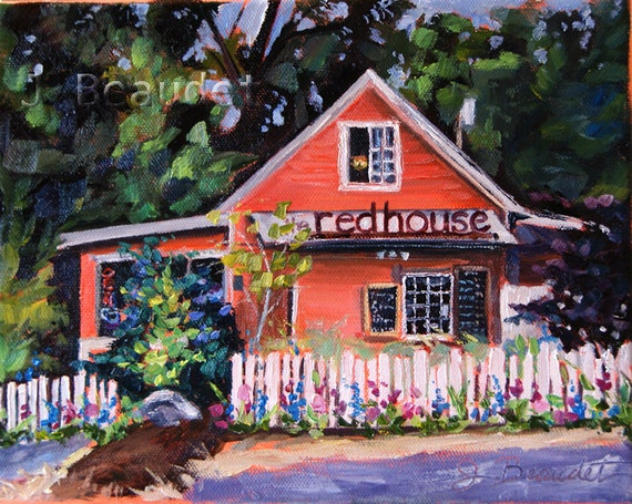 Portrait of Your House Custom painting cottage Gift
