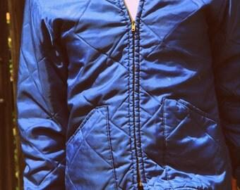 1950s quilted rockabillly work jacket