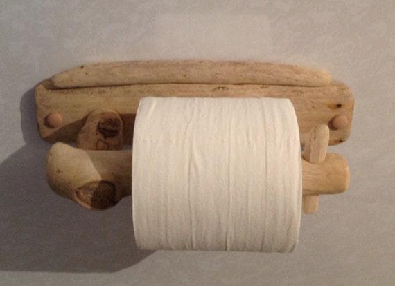 Driftwood Toilet Roll Holder Art Sculpture Nautical