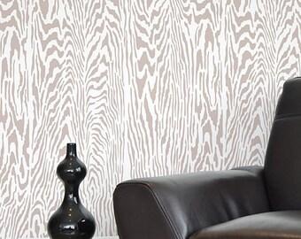 Faux Bois Stencil Pattern - reusable stencil patterns for walls just like wallpaper - DIY decor