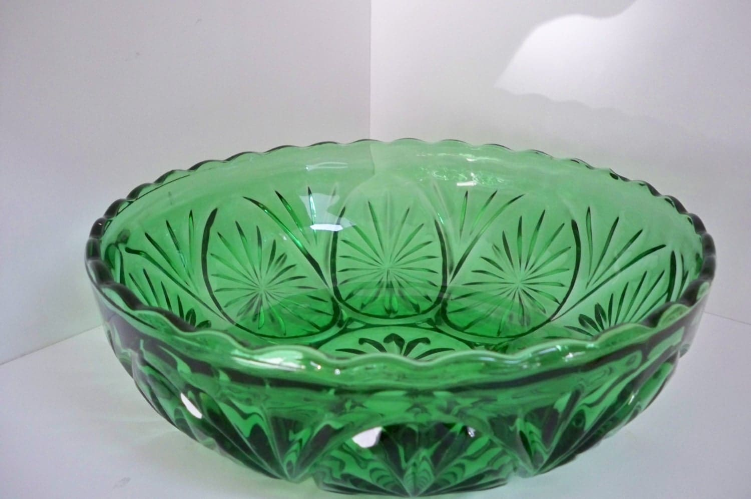 Anchor Hocking Green Glass Bowl