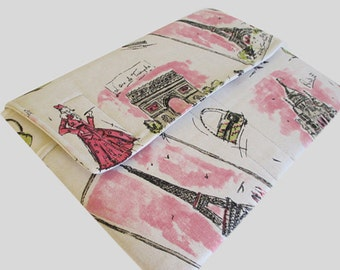 MacBook Air Sleeve, MacBook Air Case, MacBook Air 13 Inch Sleeve, MacBook Air 13 Case, MacBook Air Cover Pink Paris